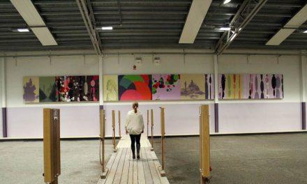 Färgglad konst lyfter populär boulehall i Gottsunda