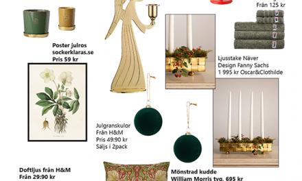Julen är en härlig mix av rött, grönt mässing och ockragult