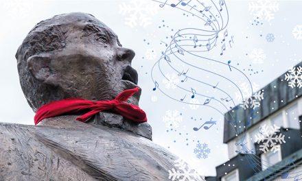 Under julskyltningen tar Jussi Björling ton igen