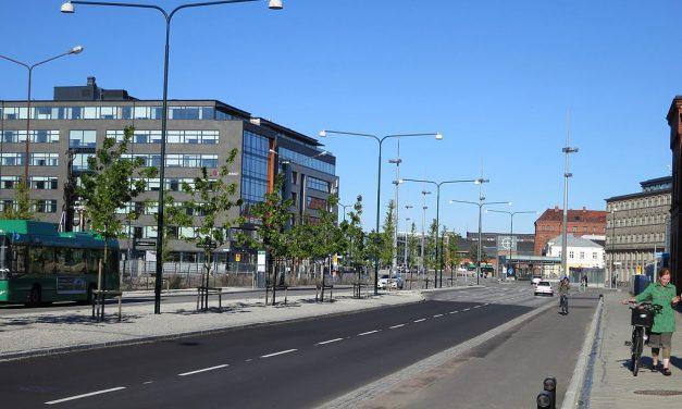 Malmös nya huvudgata med fem broar och biofilter