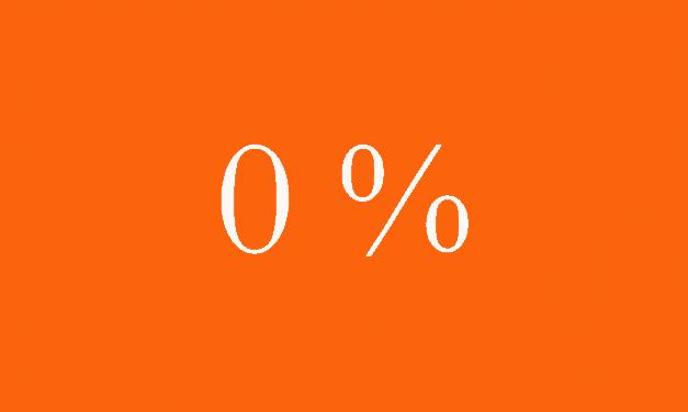 Reporäntan höjs till noll procent
