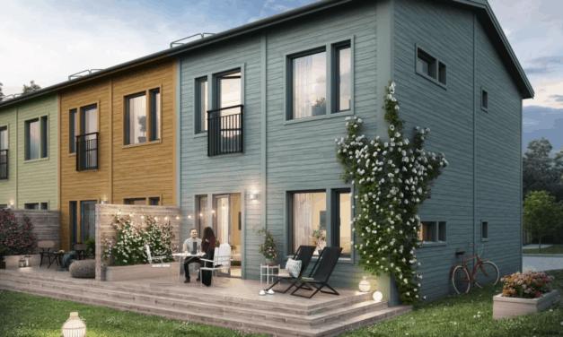 Prisvärda radhus byggs i Valsjöskogen