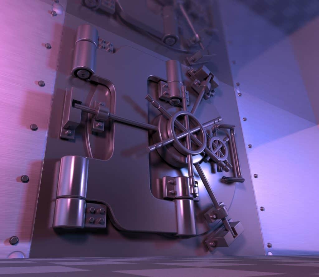 safe, vault, steel door