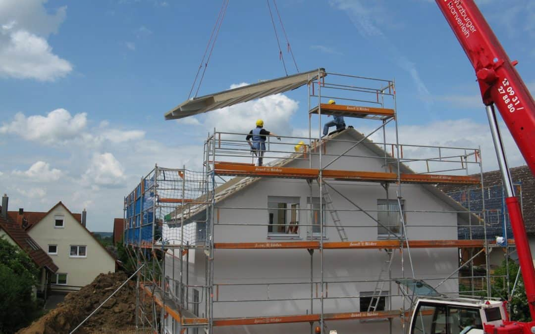 housebuilding, new building, site