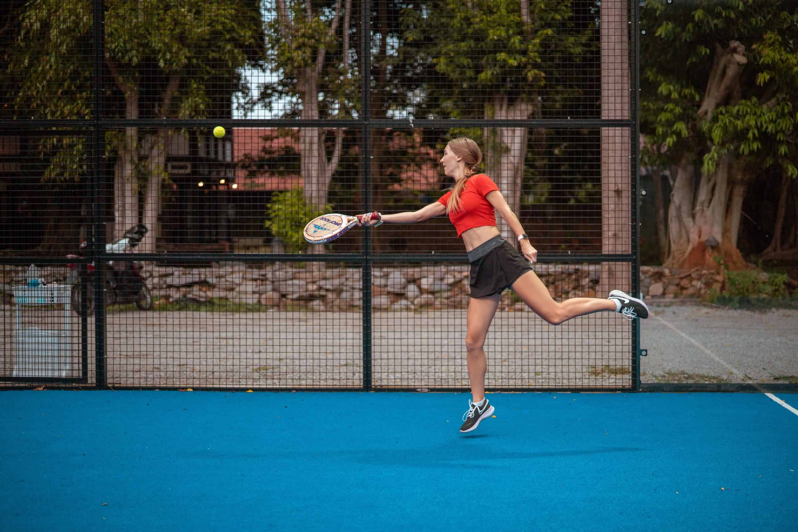 Padel is much easier than tennis - a smaller court with glass walls, reduced and soft racket.