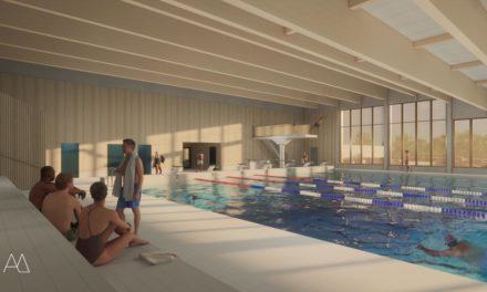 Första bilderna på nya badhuset på Ekerö