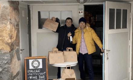 Martin förvandlade sitt garage till central för matavhämtning